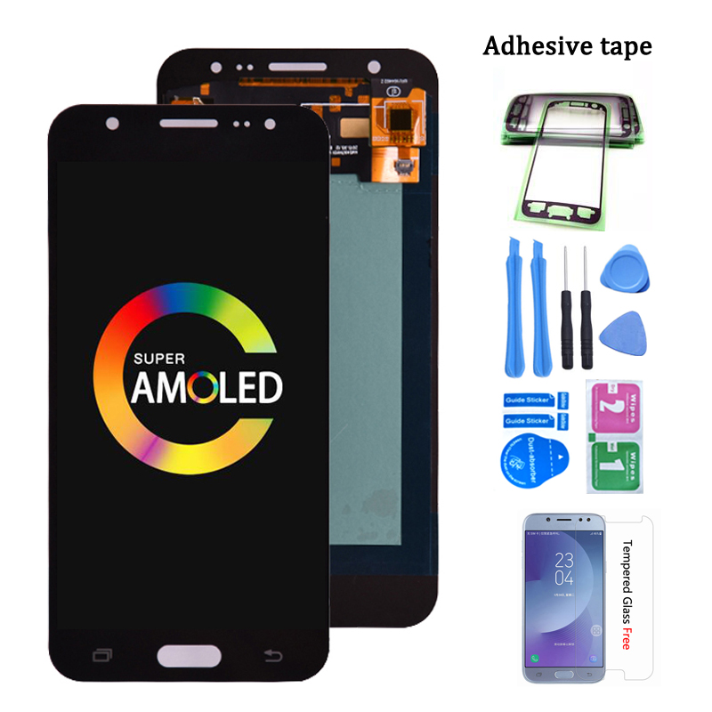 Super Amoled For SAMSUNG Galaxy <font><b>J5</b></font> 2015 <font><b>J500</b></font> LCD Display J500H J500FN J500F J500M SM-J500F Touch Screen Digitizer image