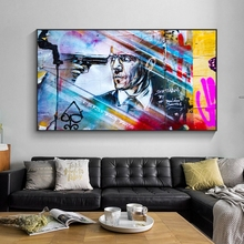 Street Art Paintings on Wall Graffiti Canvas Print and Posters Prints Pop Pictures Cuadros for Living Room Decor