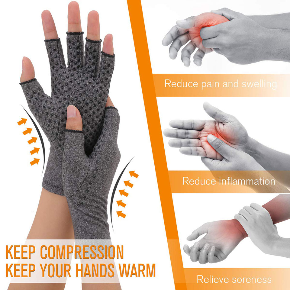 Arthritis Compression Gloves For Women And Men -Copperfit Compression Arthritis Pain Relief Hands For Rheumatoid Arthritis 3