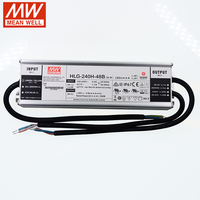 Meanwell HLG 240H 48B Switching Power Supply 110V/220V AC To 48V DC 5A 240W Water Proof IP67 PFC Dimmable Led Driver CE