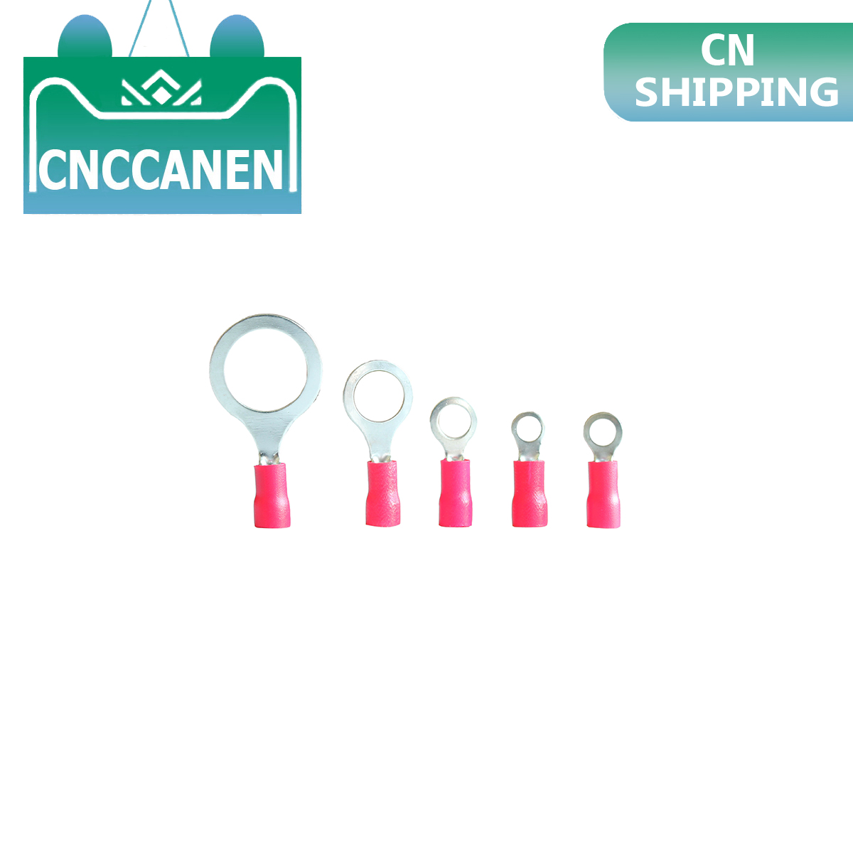 22-16 AWG 0.5-1.5mm2 Insulated Ring Terminal Connector Red M3/M4/M5/M6/M8/M13 PVC Wire Cable Electrical Crimp Terminal