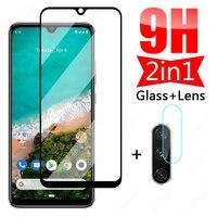 9H Schutz Glas Für Xiaomi Mi A3 A2 Lite Ausgeglichenes Glas-schirm-schutz Für Xiaomi Mi A3 A2 A1 kamera Objektiv Glas Film Fall