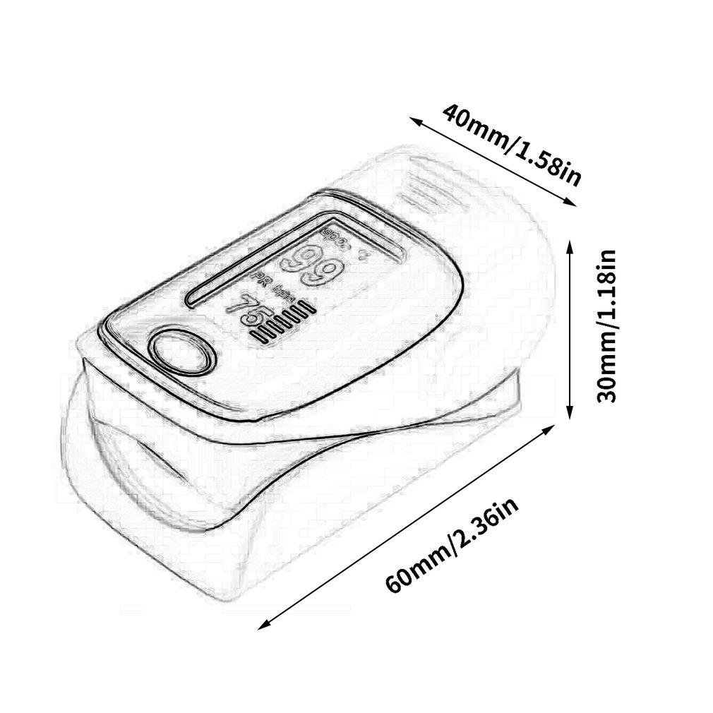 Rechargeable Pediatric Finger Tip Pulse Oximeter Blood Pressure Monitor No Signal 8 Seconds Automatic Shutdown Function