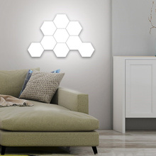 Nanoscale Adsorption Technology / Simple Installment Stitching Hand Touch Bright Modular Hexagonal Wall Light
