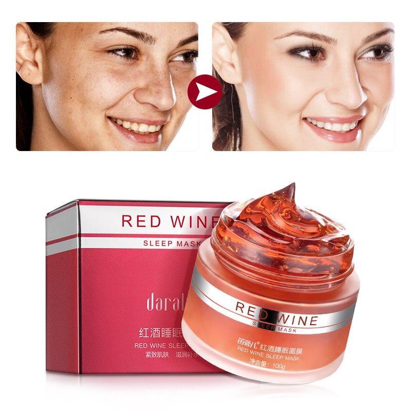 Daralis 100G Red Wine Essence Sleeping Facial Mask Whitening Cream Moisturizing Gel Night Cream No Wash Face Skin Care Hydrating