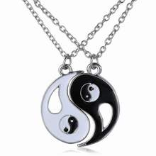 Europe and the United States Hot Necklace Good Friends best friends pendant necklace Yin and Yang Taiji gossip Stitching Chain(China)