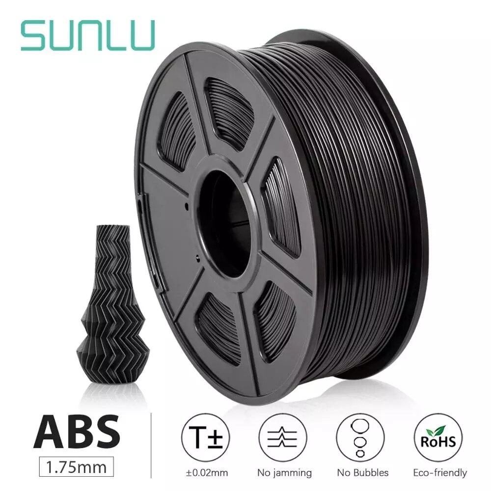 Нить для 3D-принтера SUNLU ABS, нить из АБС-пластика 1,75 мм, нить для 3d-печати с низким уровнем запаха, точность размеров +/-0,02 мм, 2,2 фунта (1 кг)