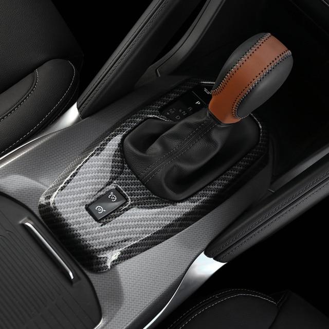Couvercle de panneau pour Renault Koleos 2017 2018 | ABS Chrome/fiber de carbone, bouton de vitesse de voiture, accessoires de style de voiture