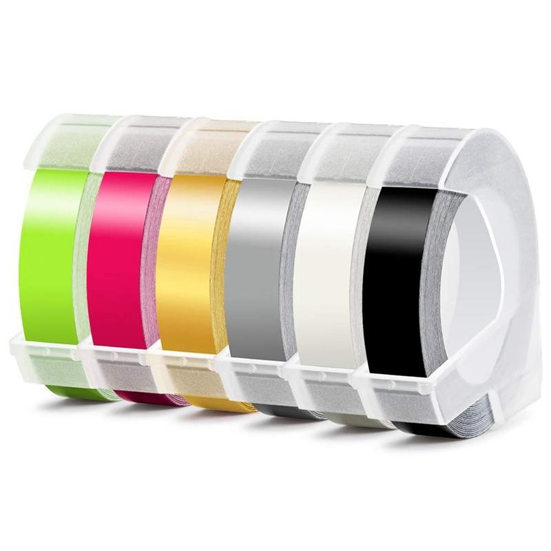 Label Maker Manual Embossing 6MM X 300CM Refill Tape Organizer For DYMO MOTEX