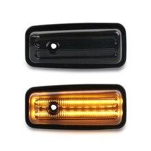 2PCS Dynamische LED Seite Marker Blinker Anzeige Repeater Licht Lampe Für BENZ W461 W463 G Klasse G500 g550 G55 G63 G65