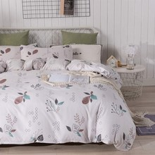 Hot Sale Duvet Suit, Botanical Flower Pattern 3 Piece Set Bedding Set Light and Soft 3PC Bedding Home Textile Set(China)