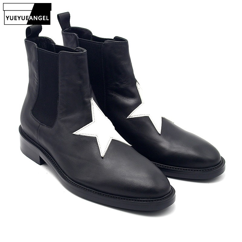 Designer Pointed Toe Shoes Men 100% Real Leather Chelsea Boots British Style Ankle Boots Casual Male Black Shoes Flat Sneakers