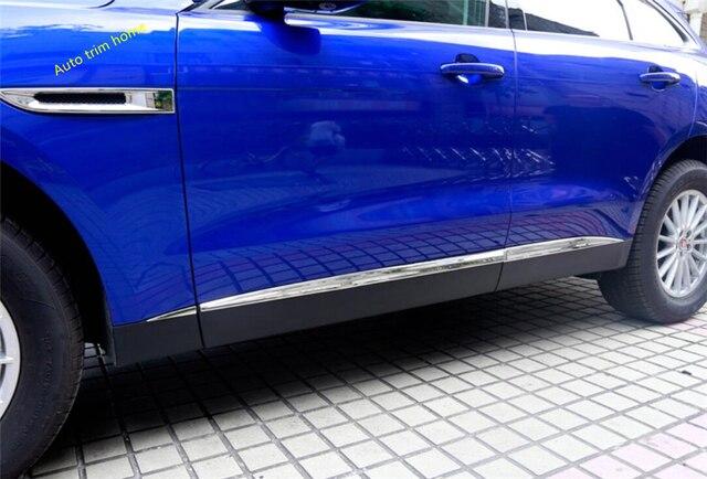 Lapetus Outside Door Body Mouldings Bottom Panel Bezel Cover Trim Fit For Jaguar F-Pace 2017 2018 2019 2020 Auto Accessories 1