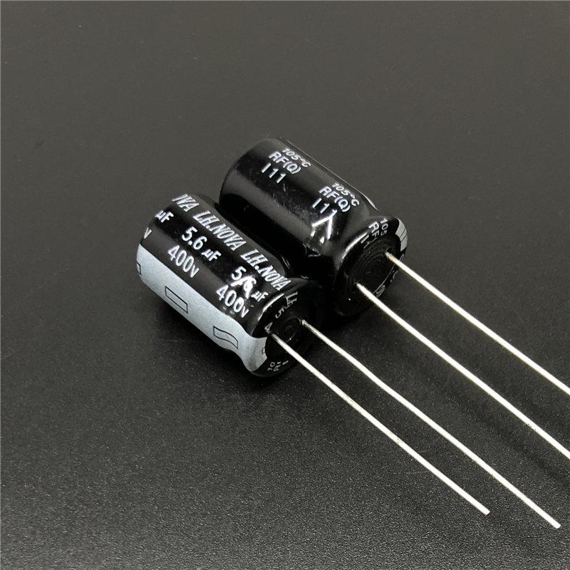 5pcs 5.6uF 400V LH.NOVA RF RG 12.5x20mm 400V5.6uF Electrolytic Capacitor