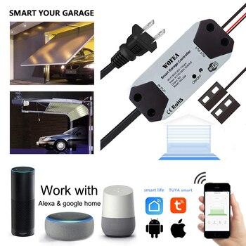 Wofea WiFi переключатель умный открывалка для гаражных ворот контроллер работает с Alexa Echo Google Home SmartLife/Tuya APP контроль не требуется концентратор