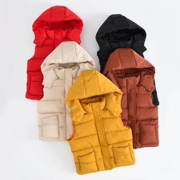 OLEKID 2019 Warm Winter Girls Cotton Vest Autumn Kids Boys Sleeveless Jacket 2-10 Years Child Baby Girls Coat Baby Boy Waistcoat