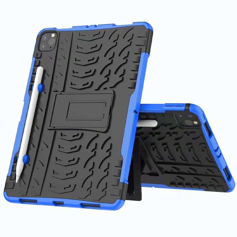 Blue Blue Shockproof Armor Case For New iPad Pro 11 2020 Case With Pencil Holder Flip Stand Cover