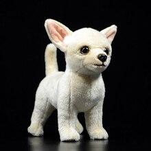 25cm lifelike chihuahua brinquedos de pelúcia do cão bonito filhote de cachorro bonecas animais de pelúcia macio da vida real chihuahua brinquedos para presentes das crianças