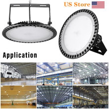цена на 2pcs 100W 200W 300W 110V UFO LED High Bay Lights Waterproof High Lumen Factory Commercial Lighting Industrial Warehouse Lights