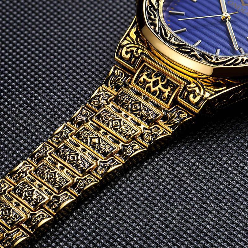 Relojes de pulsera de cuarzo de diseño creativo Retro para hombre, calendario de acero completo, relojes de moda a prueba de agua, relojes de hombre de lujo de marca superior