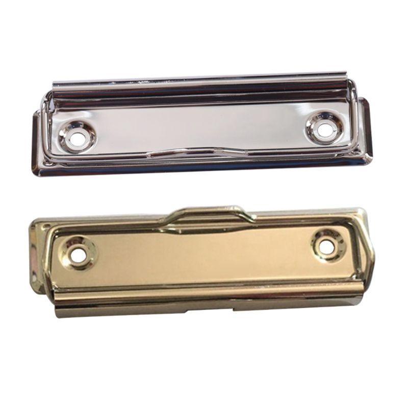 Mountable Metal Clipboard Clips Spring Loaded Surface Mount Handle With Rubber Feet Hardboard Clamps Bag Hardware Accessory