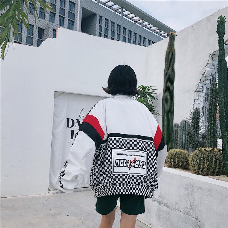 H2b6697fd0a7640bcbeae94a33603bb16M #5601 Summer Sunscreen Windbreaker Women Korean Fashion Thin Coat School Harajuku Baseball Hip Hop Jacket Streetwear