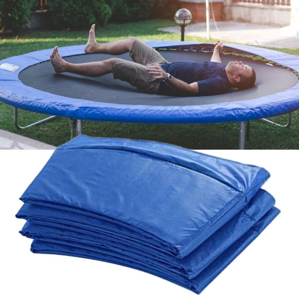 Protection for trampoline 366 cm blue cushion replacement protection springs