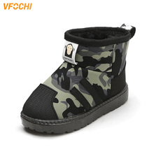 VFOCHI New Boy Snow Boots for Kids Soft Non-Slip Winter Outdoor Shoes Children Casual Unisex Girls