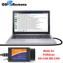 FORScan ELM327 USB V1.5 PIC18F25K80 for Mazda Ford Module Initialization PATS Key Programming Unlock Hidden Functions HS MS CAN