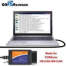 FORScan ELM327 USB V1.5 PIC18F25K80 dla Mazda Ford inicjalizacja modułu PATS programowanie kluczy odblokuj ukryte funkcje HS MS CAN