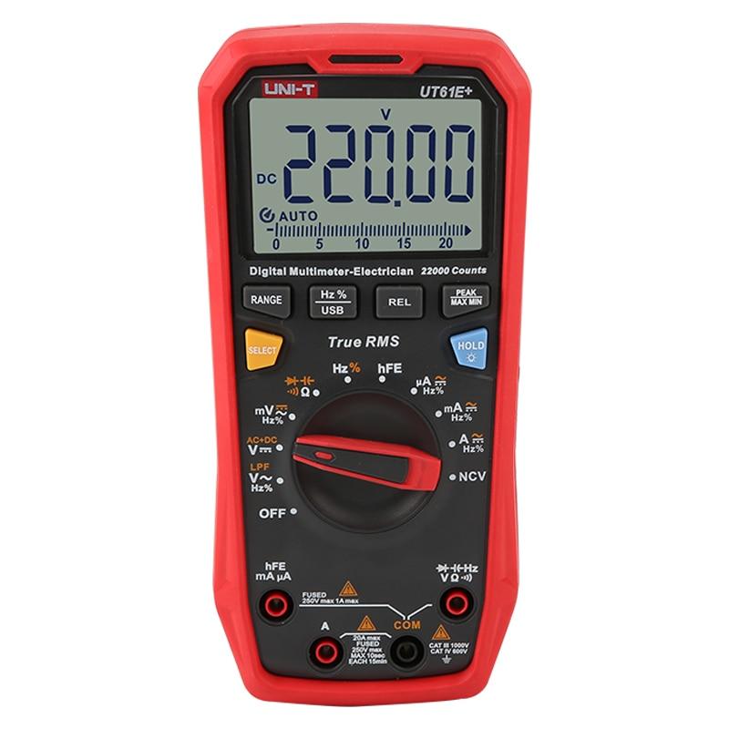 T High UT61E Intelligent Multimeter Digital Multimeter UNI  Digital  True RMS  Electrician UT61D Precision UT61B