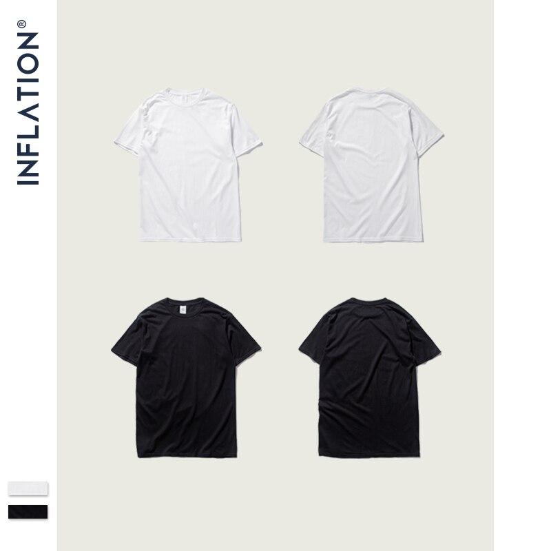 INFLATION Package Sale Summer Men T Shirt Men Jersey Short Sleeve T-Shirt 100% Cotton Men Tee Shirt Homme 20 Colors  035S16