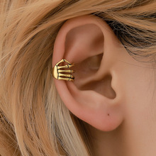 vintage fashion earrings for women and men personality punk style skeleton hand vertebra ear bone clip ornaments