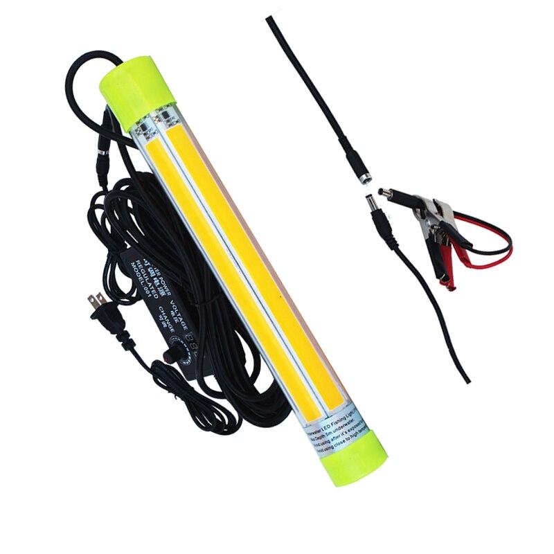 ac110 240v dc12v pode ser escurecido 60 w cob luz de pesca subaquatica lampada led isca