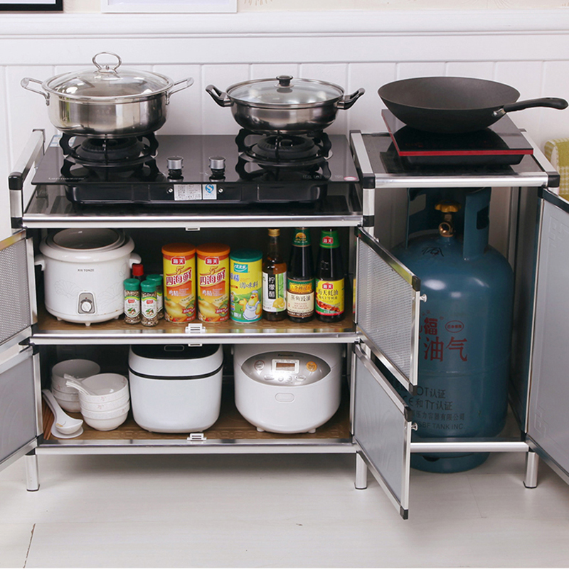 Kitchen Cabinet, Simple Assembly, Multifunctional Cabinet, Stainless Steel Receiving Cabinet, Side Cabinet, Stove Stand Cabinet
