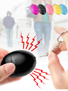 KERUI Alarm Loud Keychain Protect Egg-Shape Alert Self-Defense Security Personal Safety