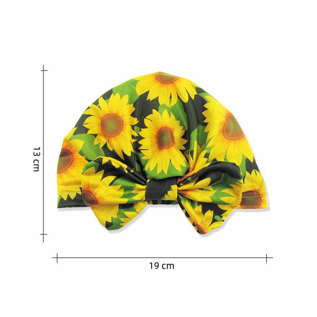ทารกแรกเกิดหมวกเด็กทารกหมวกเด็กดอกไม้ Bowknot หมวกเด็กวัยหัดเดินเด็ก Turban หมวกสำหรับ 0-2Y photo Props #11.18
