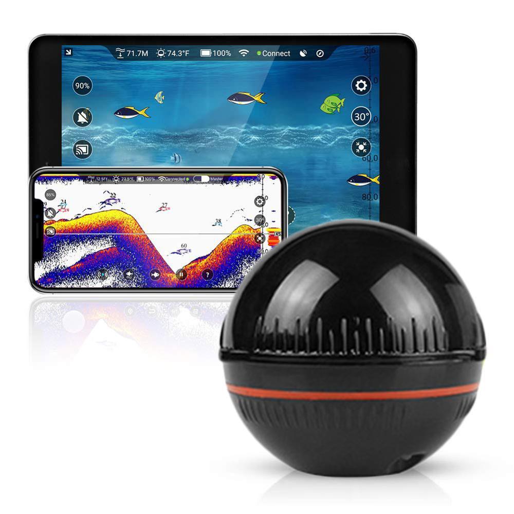 Neue Smart Tiefe Fisch Finder GPS Tragbare Wireless Sonar Fisch Finder Onshore Offshore Freshwate Salzwasser Wi-Fi Fisch Finder