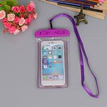 Сумки для плавания водонепроницаемый мешок со светящийся подводный чехол для телефона для iphone 6 6s 7 8 Универсальные Все модели 3,5 дюймов-6 дюймов