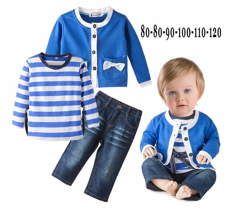 On Sale~Lovely Girls 3-piece Jean Set /Children Clothing Set 3164