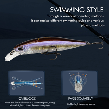 MRERDITH JERK MINNOW 100F 14g Hot Model Fishing Lure Hard Bait 24Color wobbler Minnow Quality
