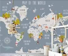Xue su настенное покрытие пользовательские обои мультяшная карта