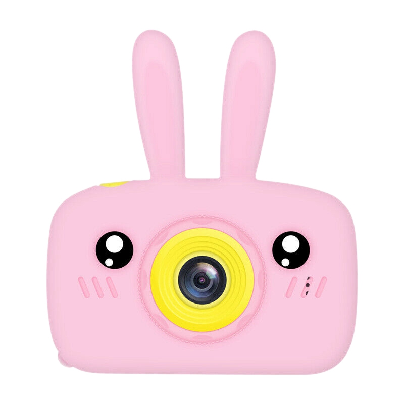 2-Inch Hd Child Camera, Boy Girl Creative Gifts, Mini Video Camera Sports Camera Pink Rabbit Silicone Case