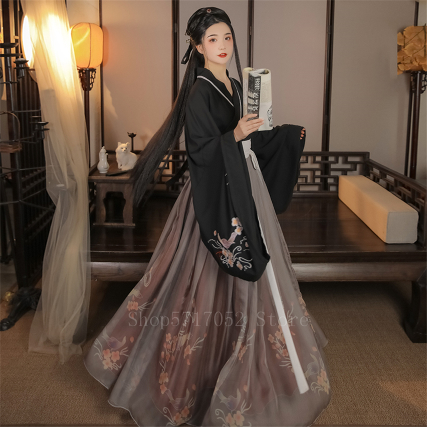 Fairy Women Hanfu Dress Traditional Chinese Clothing Festival Outfit Embroidery Ancient Folk Stage Performance Dance Costumes