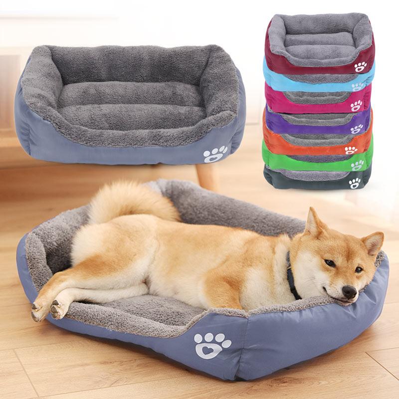 Sofa Bed Washable Warm Fleece Paw Cat