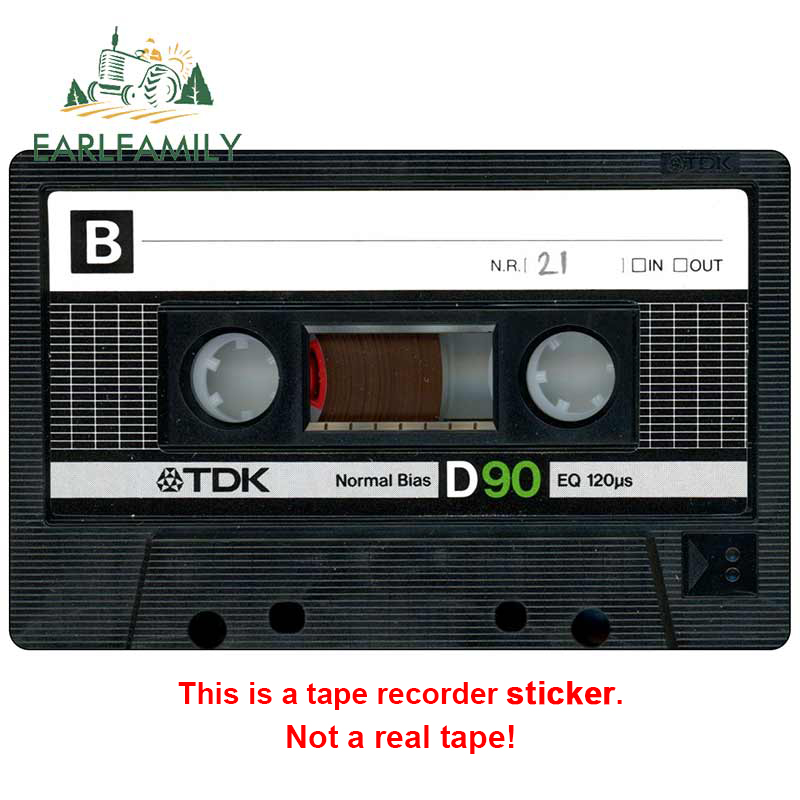 EARLFAMILY 13cm For Audio Tape Fine Decal Fashion Car Stickers Vinyl Material Occlusion Scratch Decals For JDM SUV RV(China)
