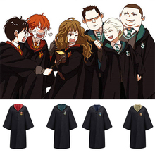 Cosplay Costume Potter Robe Cloak With Tie Scarf Ravenclaw Gryffindor Hufflepuff Slytherin Kids Gifts Wholesale