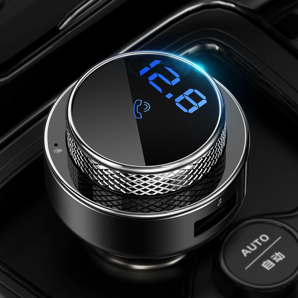Transmissor de fm para o carro carregador rápido qc3.0 usb carregador de carro carregador usb mp3 player bluetooth 5.0 handsfree kit carro sem fio