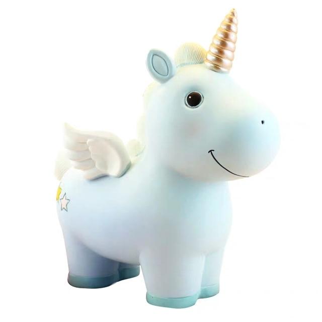 Hucha Unicornio Lindo de Resina.