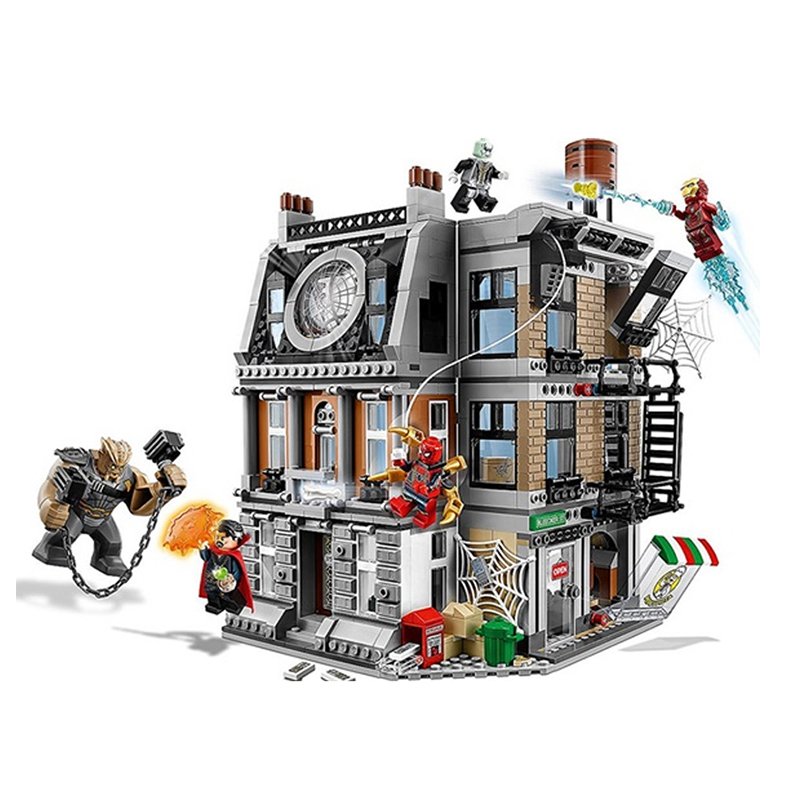 Model building kits 1125Pcs Super Hero Sanctum Sanctorum Showdown Building Brick Assemble Set Compatible 76108 Bricks Toys